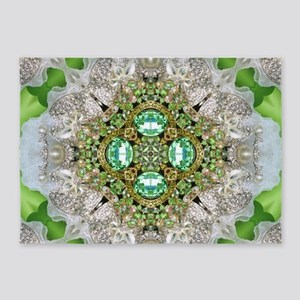 green diamond bling 5'x7'Area Rug
