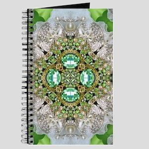green diamond bling Journal