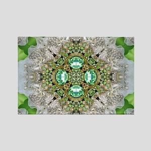 green diamond bling Magnets