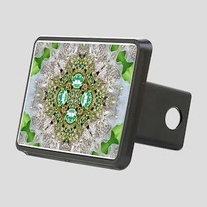 green diamond bling Rectangular Hitch Cover