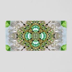 green diamond bling Aluminum License Plate