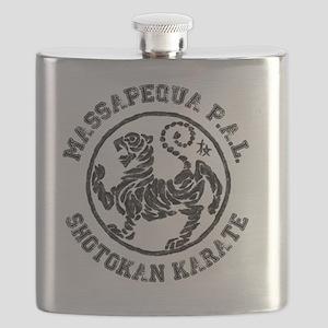Massapequa PAL Shotokan Karate Logo Flask