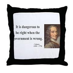 Voltaire 3 Throw Pillow