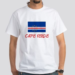 Cape Verde Flag Artistic Red Design T-Shirt