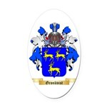 Gronkvist Oval Car Magnet
