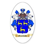 Gronbladh Sticker (Oval 50 pk)