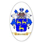 Gronblad Sticker (Oval 50 pk)