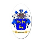 Gronblad 35x21 Oval Wall Decal