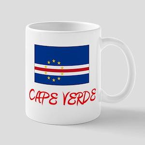 Cape Verde Flag Artistic Red Design Mugs