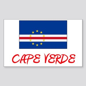 Cape Verde Flag Artistic Red Design Sticker