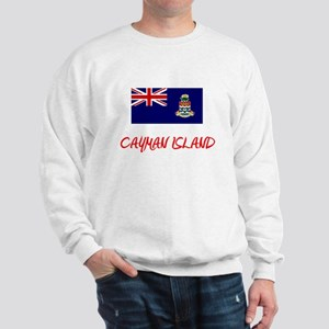 Cayman Island Flag Artistic Red Design Sweatshirt