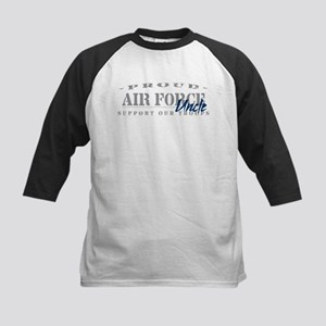 Proud Air Force Uncle (Blue) Kids Baseball Jersey
