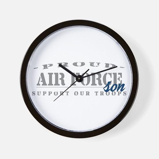 Proud Air Force Son (Blue) Wall Clock