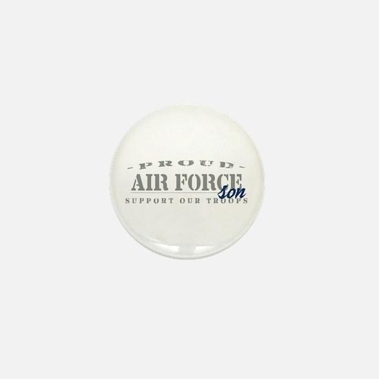 Proud Air Force Son (Blue) Mini Button