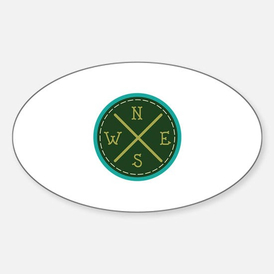 Compass North Decal