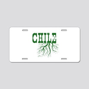 Chile Roots Aluminum License Plate