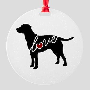 Labrador Love Round Ornament