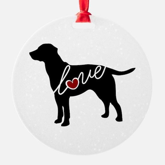 Labrador Love Ornament