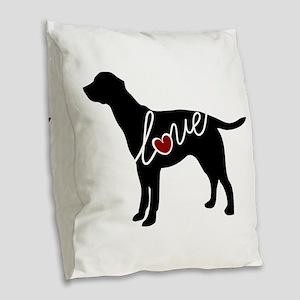 Labrador Love Burlap Throw Pillow