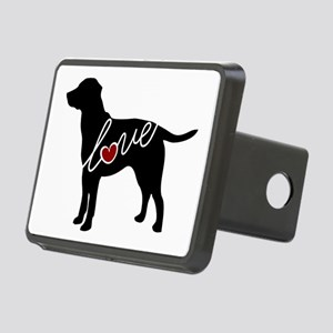 Labrador Love Rectangular Hitch Cover