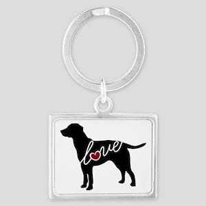 Labrador Love Landscape Keychain