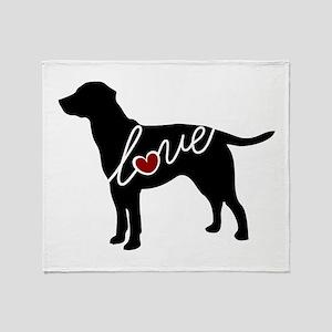 Labrador Love Throw Blanket