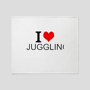 I Love Juggling Throw Blanket