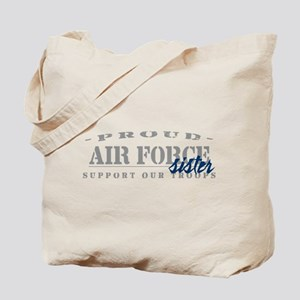 Proud Air Force Sister (Blue) Tote Bag