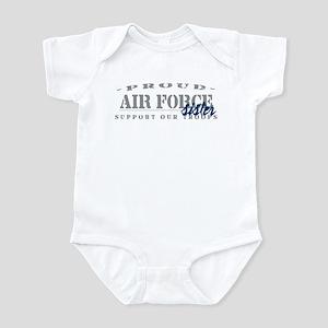 Proud Air Force Sister (Blue) Infant Bodysuit