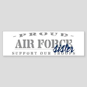 Proud Air Force Sister (Blue) Bumper Sticker