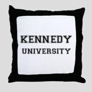 KENNEDY UNIVERSITY Throw Pillow