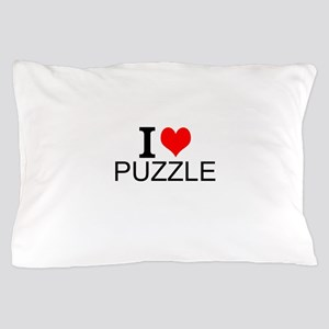 I Love Puzzles Pillow Case
