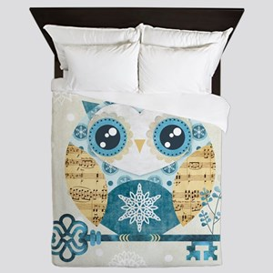 Winter Wonderland Owl Queen Duvet