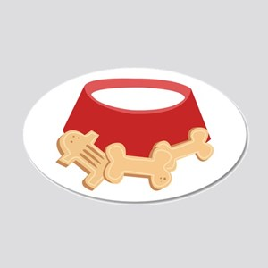 Dog Bowl Wall Decal