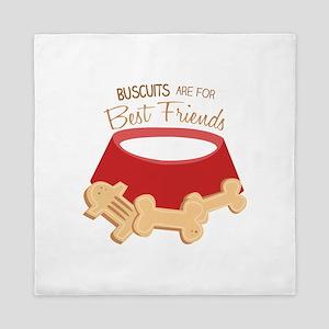 Dog Biscuits Queen Duvet