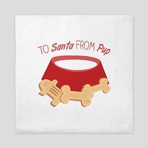 To Santa Queen Duvet