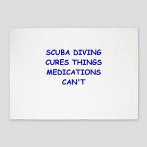 scuba diving 5'x7'Area Rug