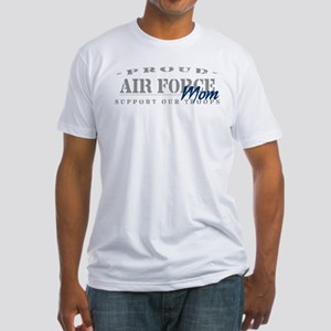 Proud Air Force Mom (Blue) Fitted T-Shirt