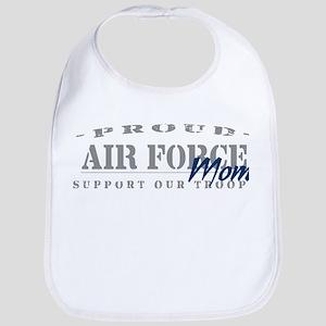 Proud Air Force Mom (Blue) Bib