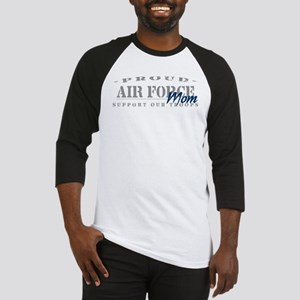 Proud Air Force Mom (Blue) Baseball Jersey