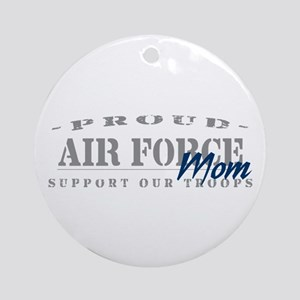 Proud Air Force Mom (Blue) Ornament (Round)