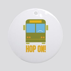 Bus_Hop_On Ornament (Round)