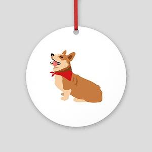 Corgi Dog Ornament (Round)