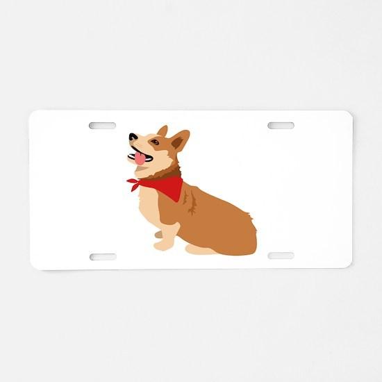 Corgi Dog Aluminum License Plate