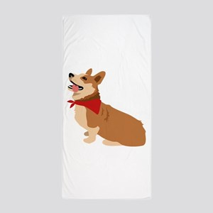 Corgi Dog Beach Towel