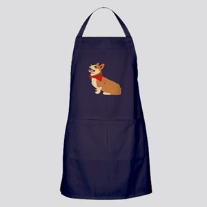 Corgi Dog Apron (dark)