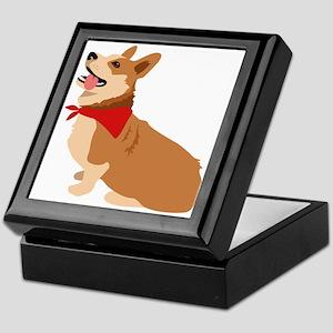 Corgi Dog Keepsake Box