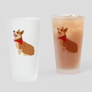 Corgi Dog Drinking Glass