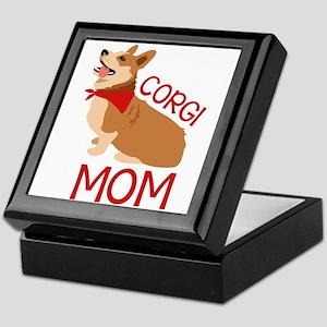 Corgi Mom Keepsake Box