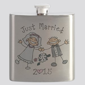 Stick Just Married 2015 Flask
